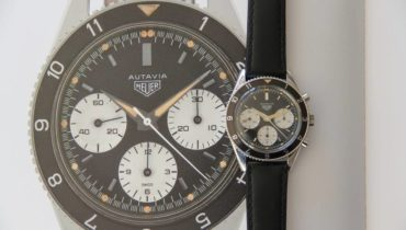 Vintage Heuer Triple Chronograph Watch ref. 2446 2nd Execution 1964