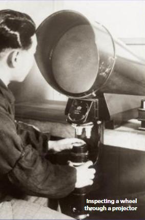 Inspecting a wheel through a projector - Citizen Watches