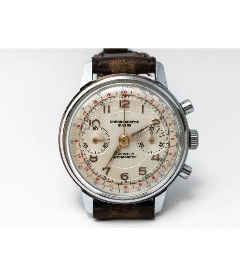 Vintage Chronographe Suisse Men's Watch Venus 188 1950s