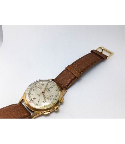 Vintage Philippe Chronograph Men's Watch with Landeron 189 37mm