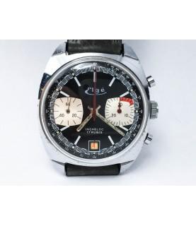 Vintage Elge Chronograph Men's Watch Panda Dial Valjoux 7734