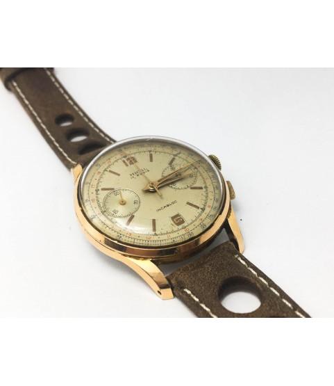 Vintage Mical Chronograph Men's Watch Landeron 148 1950s