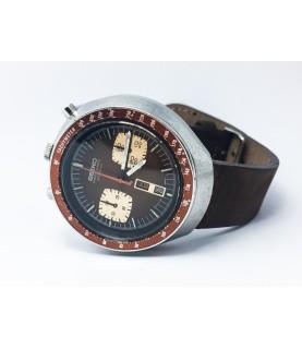 Vintage Seiko BullHead Automatic Chronograph Men's Watch 6138-0040 Early 1970s