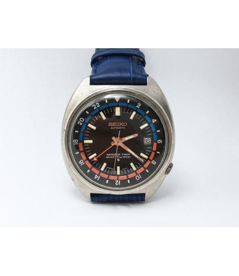 Vintage Seiko Navigator Timer Men's Watch 6117-6410 Automatic 41.0 mm
