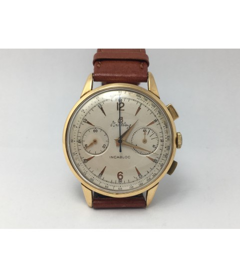 Vintage Breitling 18K Solid Gold Chronograph Men's Watch ref. 1191