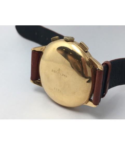 Vintage Breitling 18K Solid Gold Chronograph Men's Watch ref. 1191