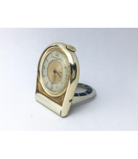 Vintage Jaeger LeCoultre Memovox Alarm Table Travel Pocket Watch