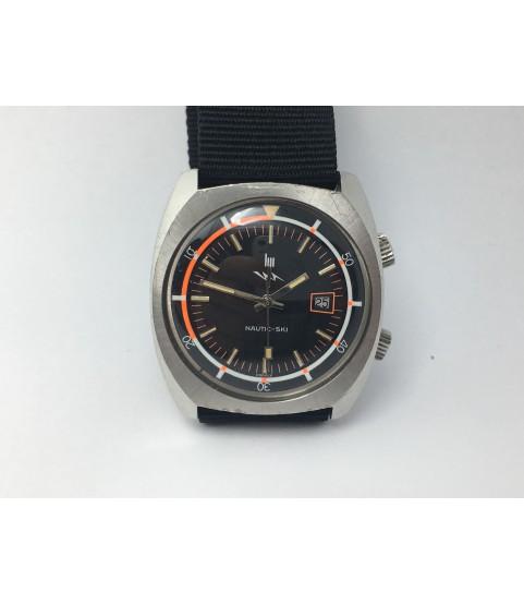 Vintage LIP Nautic Ski Compressor Men's Watch R184 37 mm 1970s