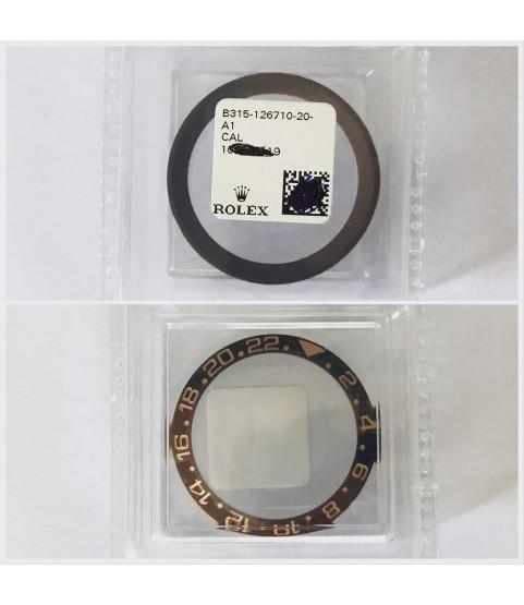 New Rolex GMT-Master ceramic insert bezel for 126715CHNR and 126711CHNR