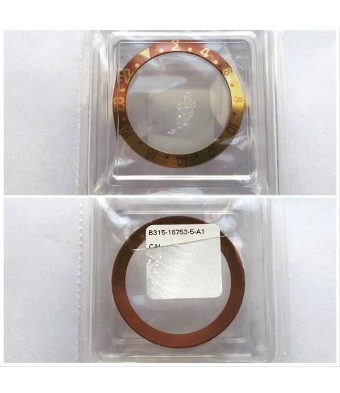 New brown Rolex 16753 GMT-Master watch insert bezel part B315-16753-5-A1