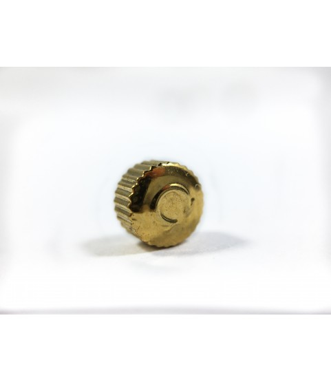 Omega gold color crown watch part 4.61 mm