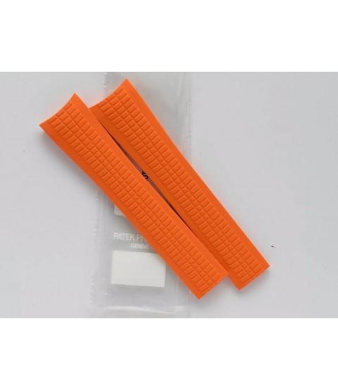 New Patek Philippe 5968A Aquanaut orange rubber strap 22mm