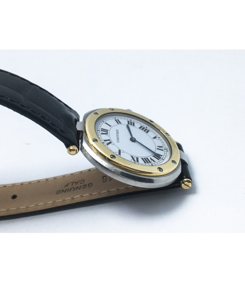 Santos de Cartier Ladies Watch 18k Gold and Stainless steel Quartz