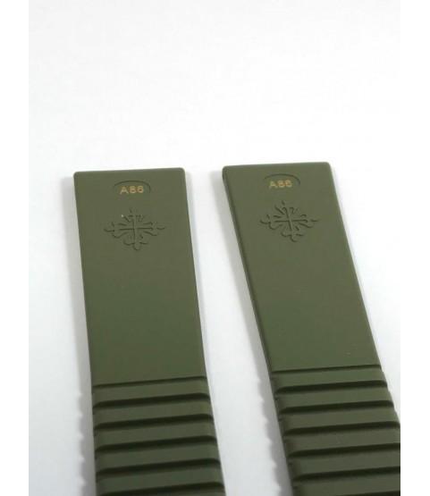 New Patek Philippe Green Rubber Strap Aquanaut 5065, 5066 Size 19/16mm