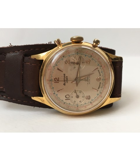 Vintage Altitude Chronograph Men's Watch Venus 188 36 mm