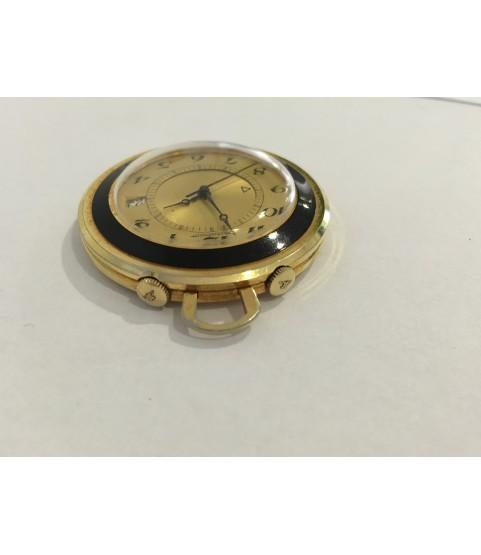 Rare Jaeger Lecoultre Memovox Alarm Travel Clock 41.5 mm 1970s