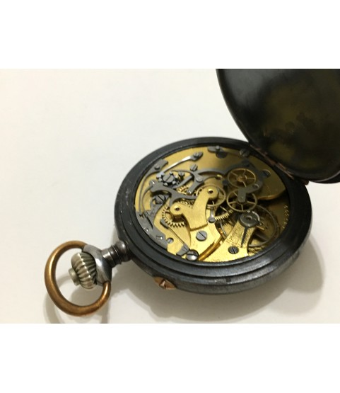 Vintage J. Auricoste Aural Chronograph Pocket Watch French