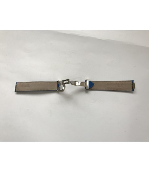 Cartier blue leather strap with clasp 18mm