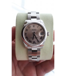 Rolex Lady Datejust Watch 178240 Pink Roman Numeral Dial 31 mm Full set