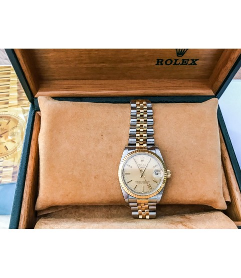 Rolex Datejust 68273 Automatic Lady watch 18k gold and steel with box