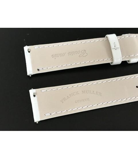 New Franck Muller white leather strap 17mm