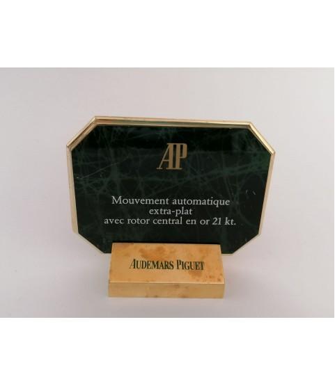 Audemars Piguet watch ads display automatic extra plat 21kt