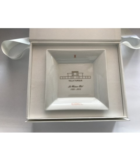 New Ebel watch ashtray with box and paper with Ebel history