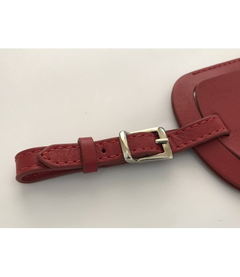 Rare Patek Philippe red leather tag holder for bag