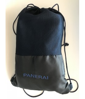 New Panerai large blue beach towel in travel storage bag