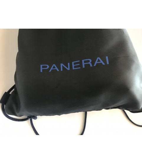 New Panerai large blue beach towel in travel storage bag