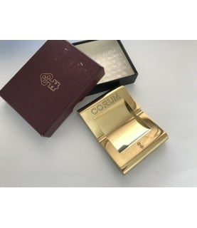 New vintage Corum gold ashtray with box