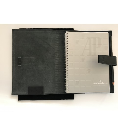 New Audemars Piguet notebook with pencil in leather case