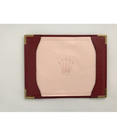 Vintage Rolex leather red card holder