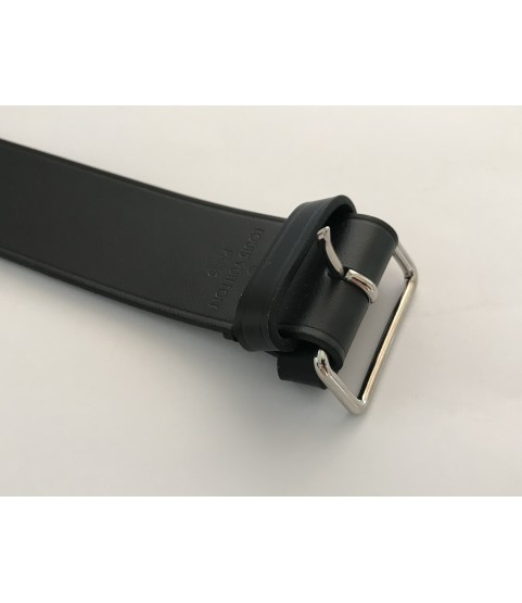 Louis Vuitton black leather luggage holder