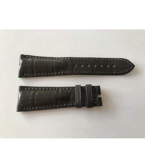 New Heuer Carrera alligator dark grey leather strap 22mm