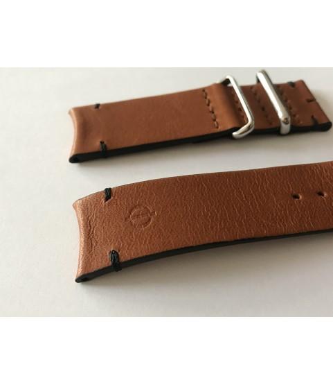 New Baume Mercier brown leather strap 22mm