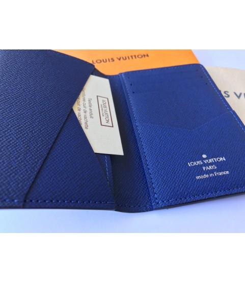 New Louis Vuitton Taiga pocket blue organiser M30301