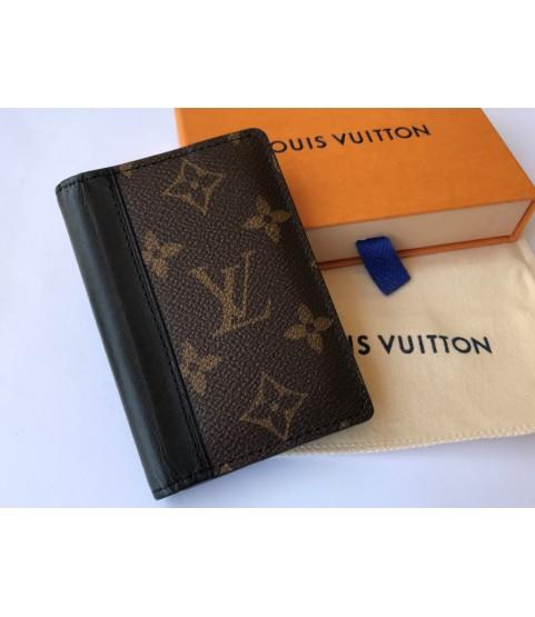 Louis Vuitton brown pocket organizer monogram macassar canvas