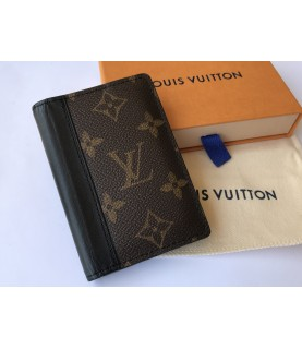 Louis Vuitton brown pocket organizer monogram macassar canvas