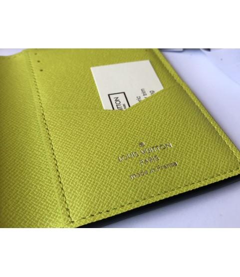 New Louis Vuitton pocket organizer M30318 green Taigarama Jaune monogram