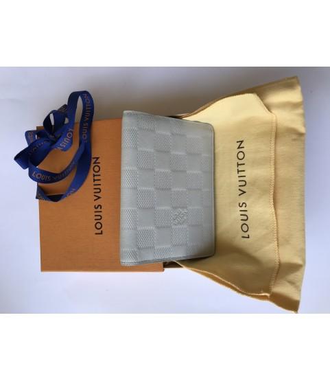 Louis Vuitton white James wallet artic bi-fold pocket wallet N63009
