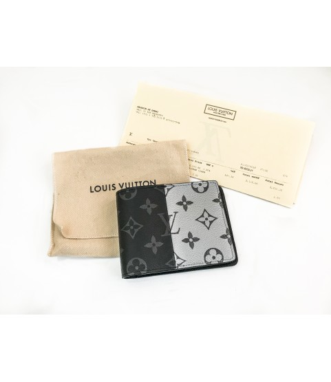 Louis Vuitton M63025 Kim Jones Monogram eclipse split multiple wallet