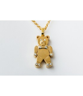 Charme Teddy Bear Pendant 14k Solid Gold with necklace jewelry for ladies