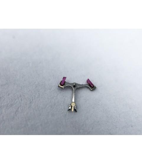 Blancpain, Piguet caliber 953 jewelled pallet fork and staff anker part