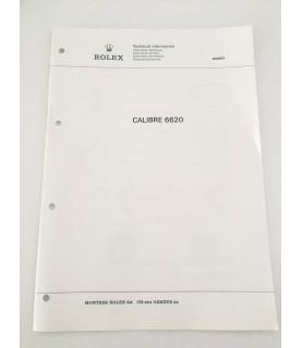 Genuine Rolex Quartz caliber 6620 Technical Infomation Service Catalog