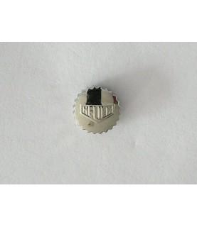 Heuer Autavia chronograph watch stainless steel crown 6.50mm