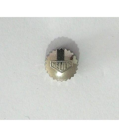 Heuer Carrera watch stainless steel crown 6.65mm, 3.15mm