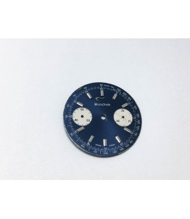 Valjoux caliber 7733 Bulova blue watch dial