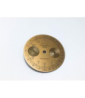 Landeron caliber 148 Coresa Chronographe Suisse chocolate watch dial