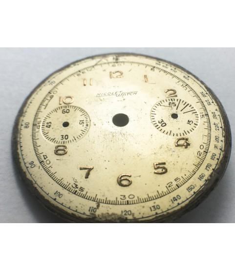 Landeron 39 Nicolet Watch chronograph dial 35.0 mm